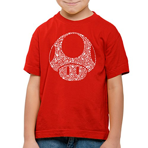 A.N.T. Super Toad Play Kinder T-Shirt Mario Pilz Game Gamer, Farbe:Rot;Größe:128 von A.N.T. Another Nerd T-Shirt