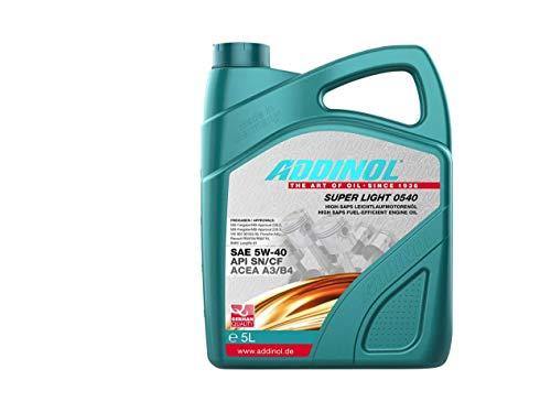 ADDINOL SUPER LIGHT 5W-40 A3/B4 Motorenöl, 5 Liter von Addinol