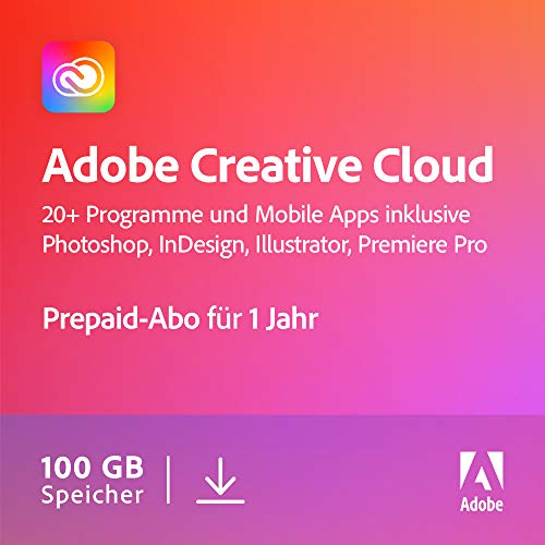Adobe Creative Cloud All Apps | 1 Jahr | PC/Mac | Download von Adobe