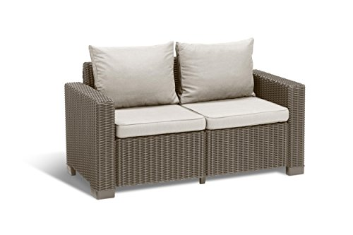 Allibert Lounge Sofa California 2-Sitzer, cappuccino/panama sand von Allibert