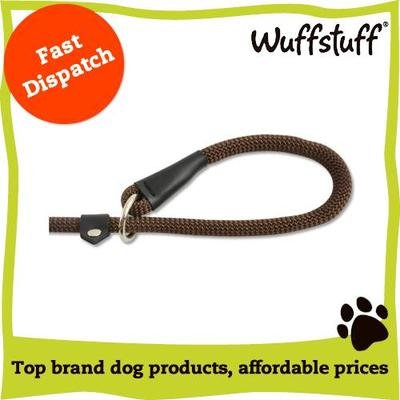 Ancol Timberwolf Rope Slip Lead Chocolate 12mm X139cm von Ancol