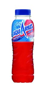 24 x Aquarius Red Peach PET-Flaschen (24 x 0,33L) von Aquarius