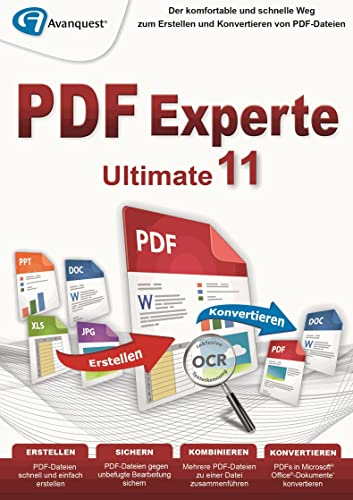 PDF Experte 11 Ultimate - Für Windows 10|8|7|Vista|XP [Download] von Avanquest Software