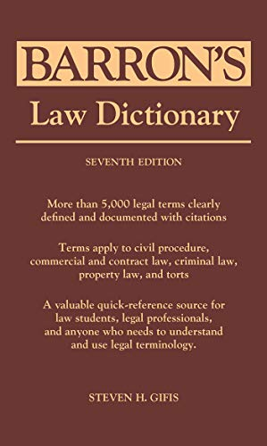 Barron's Law Dictionary von Kaplan Publishing