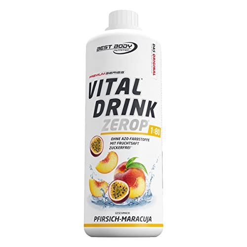Best Body Nutrition Vital Drink, Pfirsich-Maracuja, 1000ml Flasche von Best Body Nutrition
