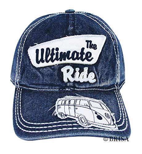 Brisa VW Collection Baseball Cap mit VW Bus T1 Motiv (Jeansblau) von Brisa