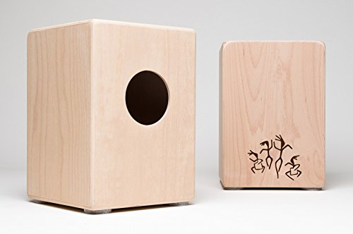 Cajon für Kinder, Kindercajon, Junior Box, Trommel, Hocker, Made in GERMANY incl. Kurzlehrgang von Cajon-Direkt