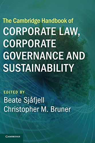 The Cambridge Handbook of Corporate Law, Corporate Governance and Sustainability (Cambridge Law Handbooks) von Cambridge University Press