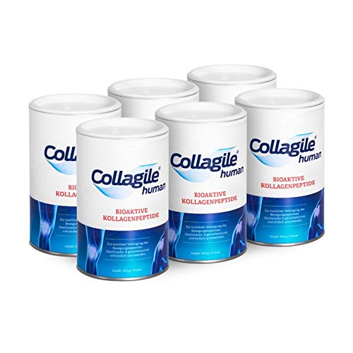 Collagile® human je 300g - Bioaktive Kollagenpeptide - Pulver - 6er Pack von Collagile