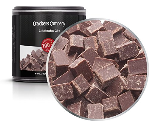 CrackersCompany 'Dark Chocolate Cube' (7 x 100g in Membrandose klein) Zartbitter Würfelschokolade - Dunkle Schokolade-Couverture 50% Kakaoanteil von Crackerscompany