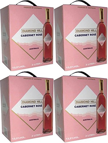 4 x DIAMOND HILL SHIRAZ ROSÉ Bag in Box 3 Ltr. 13,5% Incl. Goodie von Flensburger Handel von Diamond Hill