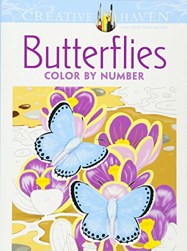 Creative Haven Butterflies Color by Number Coloring Book (Creative Haven Coloring Books) von Dover Pubn Inc