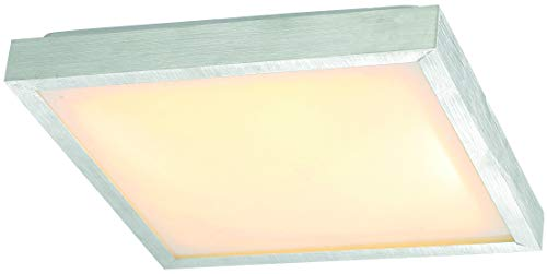 Eco Light LED-Badleuchte Milano-2, Deckenleuchte, Aluminium, 880 lm, 12 W, 27 x 27 cm, IP44, silberfarbig 8026-30 von Eco Light