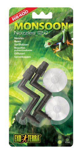 Exo Terra Hagen Nozzles Replacement for Monsoon RS400 High-Pressure Rainfall System 2pcs von Exo Terra