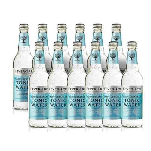 Fever Tree Mediterranean Tonic Water 0,5 Liter Flaschen, 12er Pack (12 x 500 ml) von Fever Tree