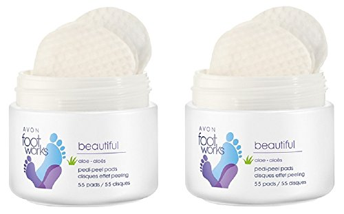 2 x Avon Foot Works pedi-peel Pads – 55 von Footworks
