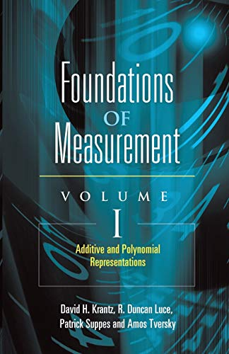 Additive and Polynomial Representations: 1 (Foundations of Measurement) von DOVER PUBN INC