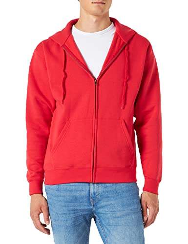 Fruit Of The Loom Herren Kapuzen Sweater Jacke Premium 70/30 (XL) (Rot) von Fruit of the Loom