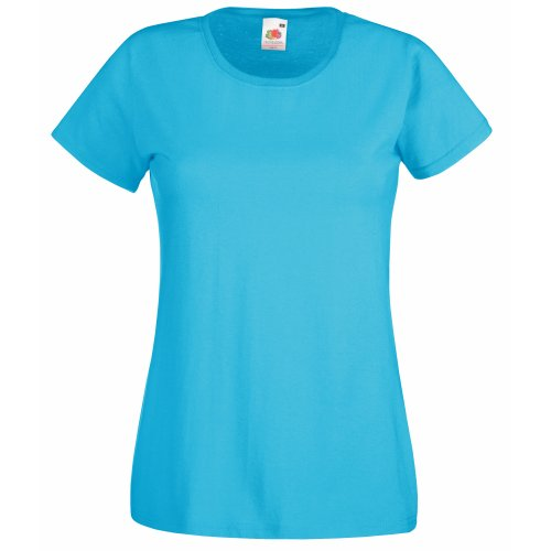 Fruit Of The Loom Lady-Fit Valueweight Damen T-Shirt (M) (Lichtblau) M,Lichtblau von Fruit of the Loom