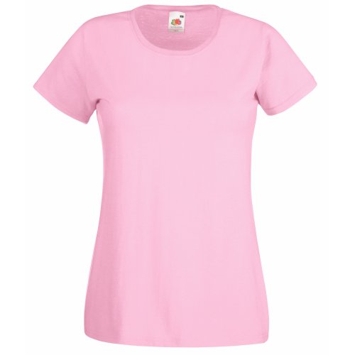 Fruit Of The Loom Lady-Fit Valueweight Damen T-Shirt (XS) (Pink) XS,Pink von Fruit of the Loom