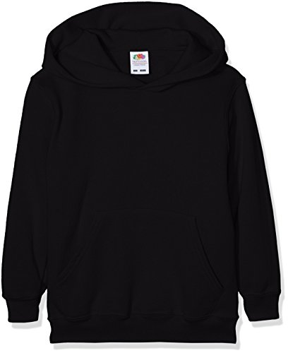 Fruit of the Loom Jungen Regular Fit Kapuzenpullover Classic Hoodie, Schwarz (Schwarz 36), 164 (Herstellergröße: 14-15 Jahre) von Fruit of the Loom