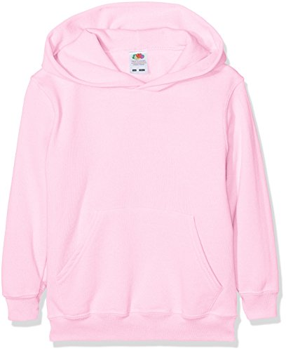 Fruit of the Loom Jungen Regular Fit Kapuzenpullover Classic Hoodie, Rosa, 164 (Herstellergröße: 14-15 Jahre) von Fruit of the Loom