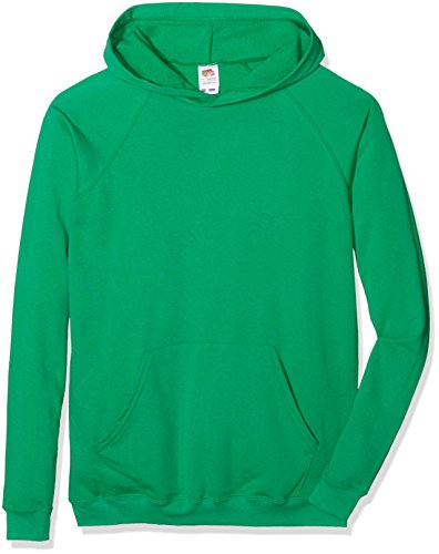 Fruit Of The Loom Jungen SS056B Long Sleeve Hoodie, Green (Kelly Green), 5-5-6 Jahre (Manufacturer Size:26) von Fruit of the Loom