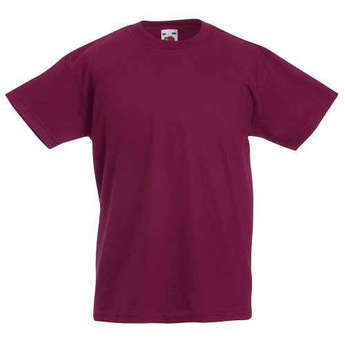 Fruit of the Loom - Kids Value Weight T / Burgundy, 128 128,Burgundy von Fruit of the Loom