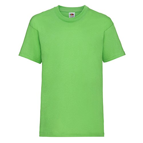Fruit of the Loom Kinder Unisex T-Shirt, kurzärmlig (5-6 Jahre (116)) (Limette) von Fruit of the Loom