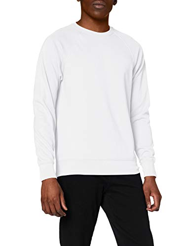 Fruit of the Loom Lightweight raglan sweatshirt White L von Fruit of the Loom