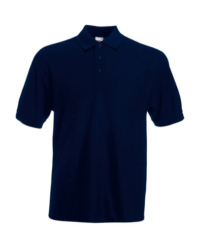 Fruit of the Loom - Piqué Polo Mischgewebe / Deep Navy, L L,Deep Navy von Fruit of the Loom