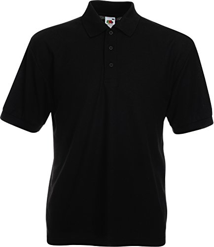 Fruit of the Loom - Piqué Poloshirt Mischgewebe '65/35 Polo' / Black, 5XL von Fruit of the Loom