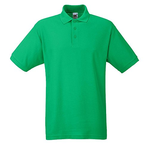 Fruit of the Loom - Piqué Poloshirt Mischgewebe '65/35 Polo' / Kelly Green, 3XL von Fruit of the Loom