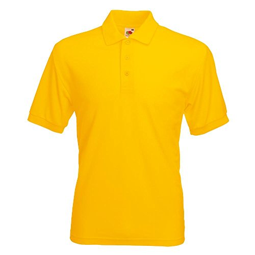 Fruit of the Loom - Piqué Poloshirt Mischgewebe '65/35 Polo' / Sunflower, 3XL von Fruit of the Loom