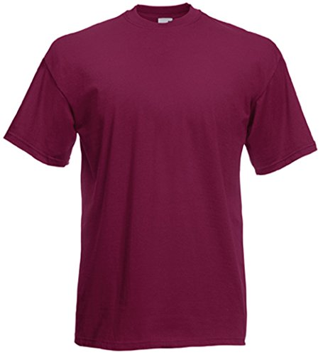Fruit of the Loom T-Shirt S-XXXL in verschiedenen Farben S,Burgund von Fruit of the Loom