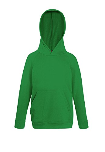 Fruit of the Loom: Kids Lightweight Hooded Sweat 62-009-0, Größe:116 (5-6);Farbe:Kelly Green von Fruit of the Loom