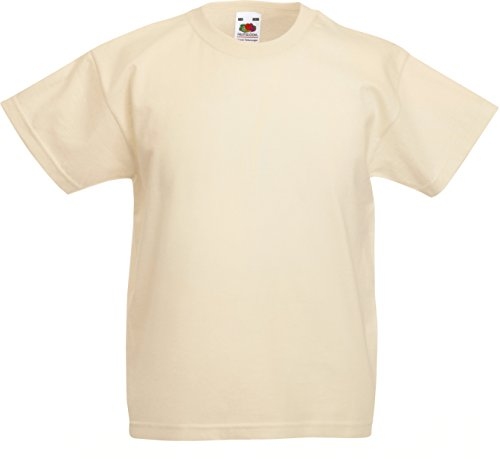 Fruite of the Loom Kinder T-Shirt, vers. Farben 164,Natur von Fruit of the Loom