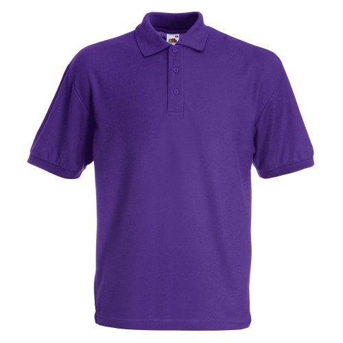 POLOSHIRT FRUIT OF THE LOOM 65/35 S M L XL XXL S,lila S,Violett von Fruit of the Loom