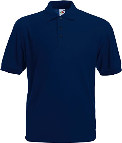 Polo-Shirt * 65/35 Polo * Fruit of the Loom Farbe navy Größe S von Fruit of the Loom