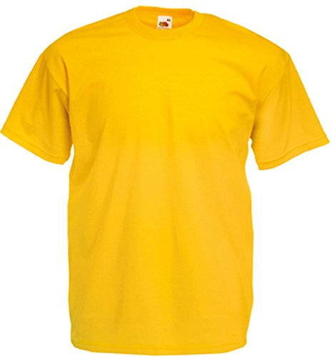 Valueweight T-Shirt von Fruit of the Loom Sonnenblumengelb L von Fruit of the Loom
