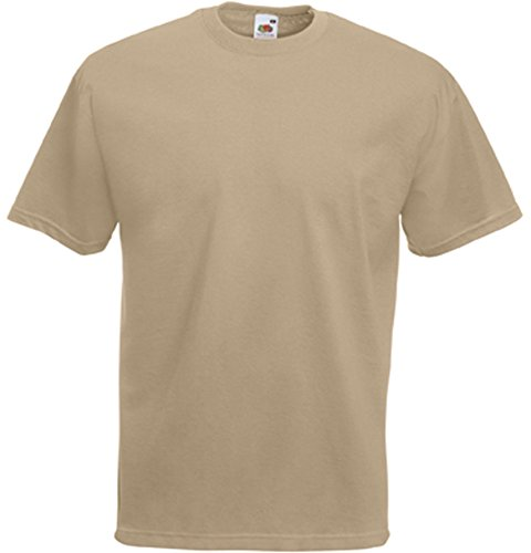 Valueweight T-Shirt von Fruit of the Loom Khaki S von Fruit of the Loom
