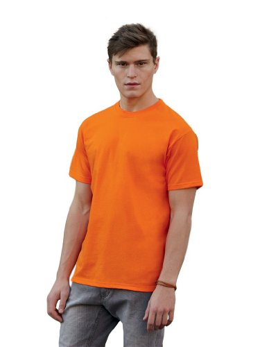 Valueweight T-Shirt von Fruit of the Loom Orange S von Fruit of the Loom