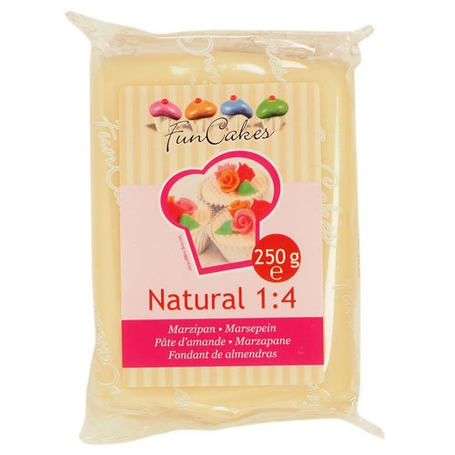 FunCakes Marzipan Natural 1:4 Ready-to-Roll, 1er Pack (1 x 250 g) von FunCakes