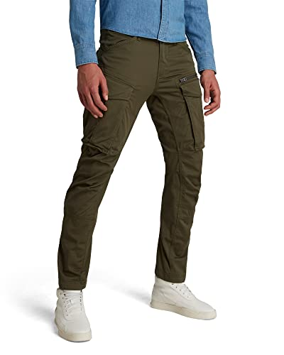 G-STAR RAW Rovic Zip 3D tapered, Herren Tapered, Grün (Dk Bronze Green 6059), W34/L36 von G-STAR RAW