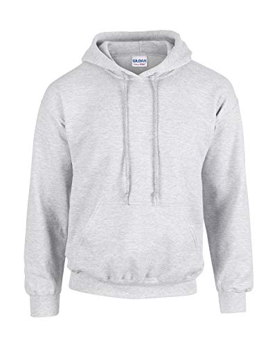 Gildan Herren Adult 50/50 Cotton/Poly. Hooded Sweat Sweatshirt, Gr. S, Ashgrey von Gildan