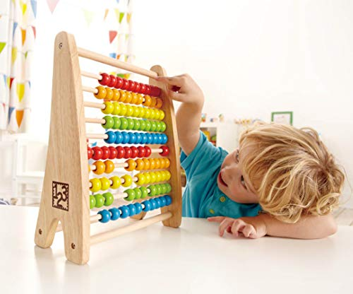 Hape E0412 E0412-Regenbogen-Abacus, Multicolour von Hape International