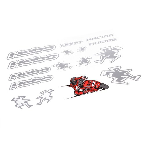 Hebo Racing Sticker Set 2, Silver, 500x350 mm von Hebo