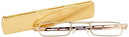 I NEED YOU Lesebrille 9 mm / +2.00 Dioptrien / Gold, 1er Pack von I Need You