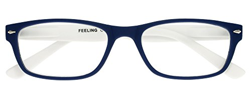 I NEED YOU Lesebrille Feeling, +1.50 Dioptrien, blau-weiß von I Need You