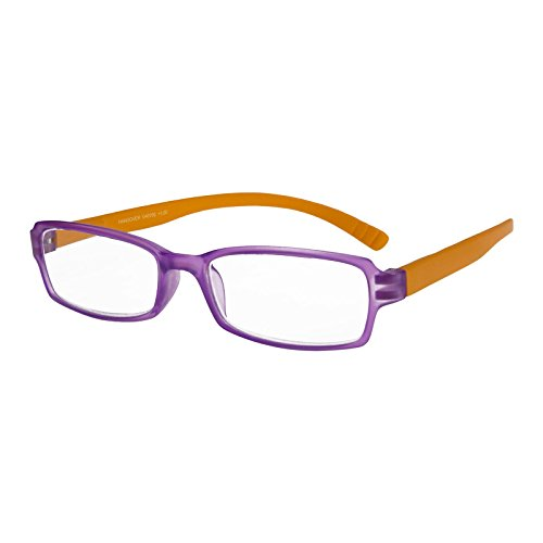 I NEED YOU Lesebrille Hangover / +1.00 Dioptrien / Lila-Orange, 1er Pack von I Need You